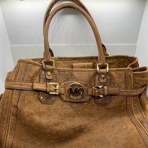 Michael Kors Large Tote Mocha Ostrich Leather